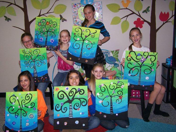 Crohn 39 s colitis foundation for Kids paint party