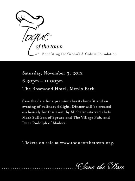 Toque of the Town Save the Date