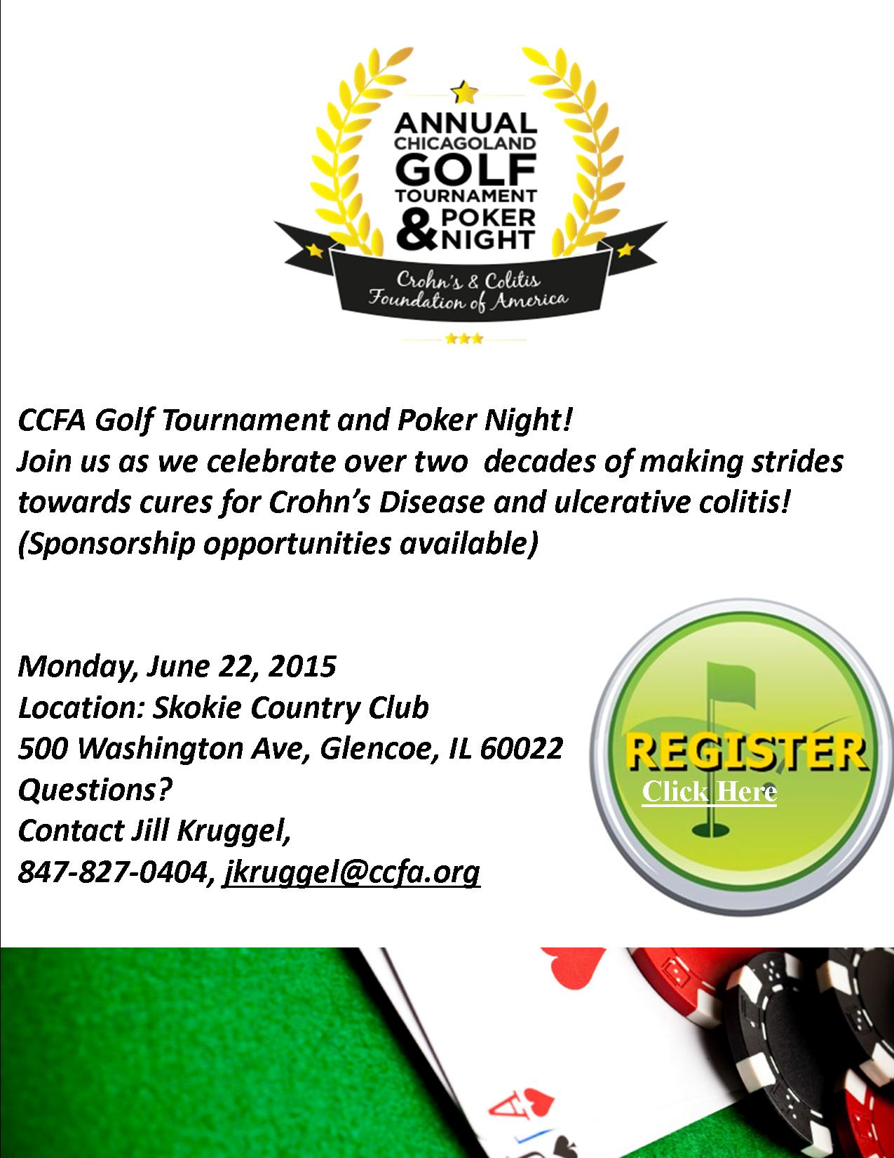 2015 Register For Golf and Poker In Chicago