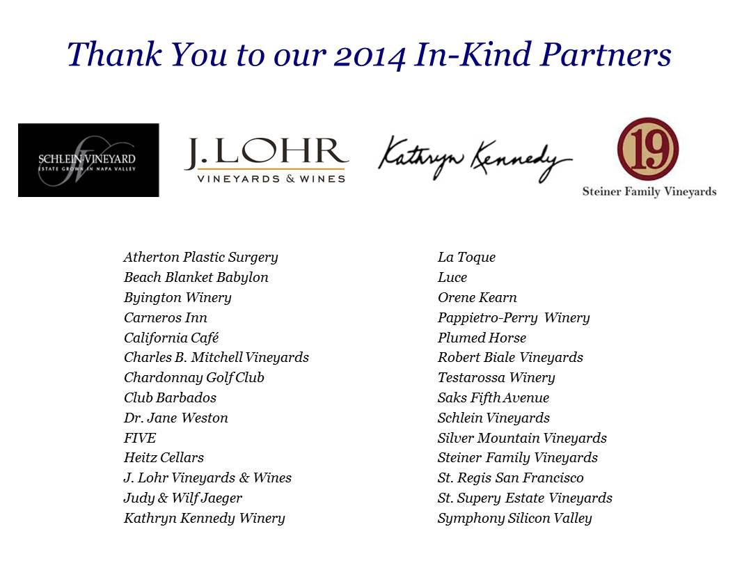 2014 In-Kind partners