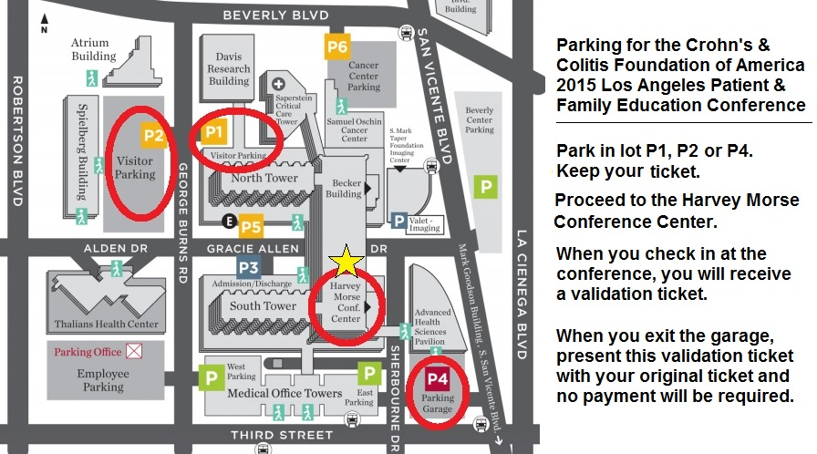 Cedars Sinai Parking Map
