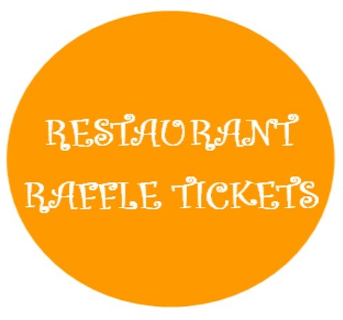restaurant raffle button